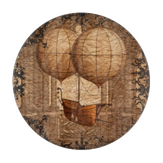 Grunge Steampunk Victorian Airship Cutting Board