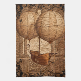 Grunge Steampunk Victorian Airship Kitchen Towel