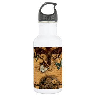Grunge Steampunk Victorian Butterfly 532 Ml Water Bottle