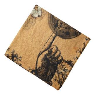 Grunge Steampunk Victorian Butterfly Bandana
