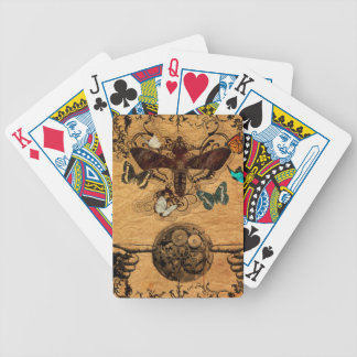 Grunge Steampunk Victorian Butterfly Bicycle Playing Cards