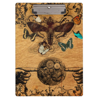 Grunge Steampunk Victorian Butterfly Clipboard