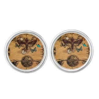 Grunge Steampunk Victorian Butterfly Cufflinks