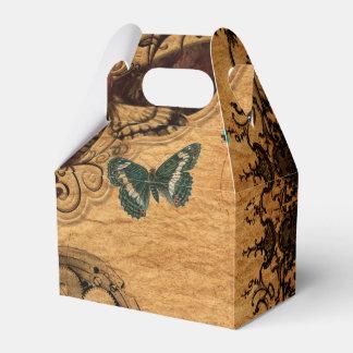 Grunge Steampunk Victorian Butterfly Favor Box
