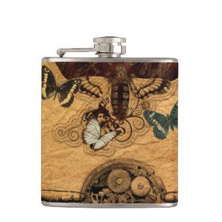 Grunge Steampunk Victorian Butterfly Flasks