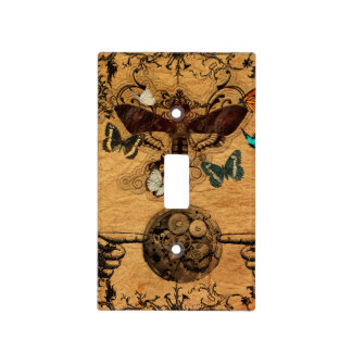 Grunge Steampunk Victorian Butterfly Light Switch Cover