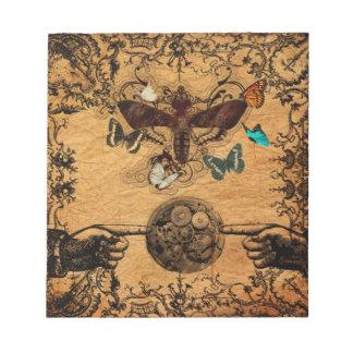 Grunge Steampunk Victorian Butterfly Notepads