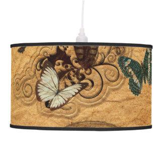 Grunge Steampunk Victorian Butterfly Pendant Lamp