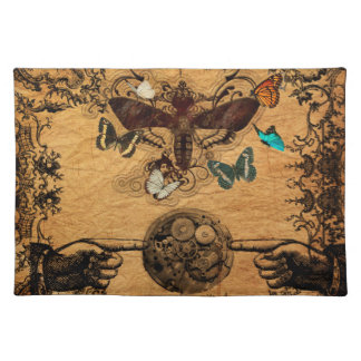 Grunge Steampunk Victorian Butterfly Placemat