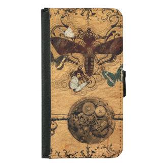 Grunge Steampunk Victorian Butterfly Samsung Galaxy S5 Wallet Case