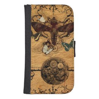 Grunge Steampunk Victorian Butterfly Samsung S4 Wallet Case