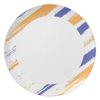 Grunge Stripe Party Plate
