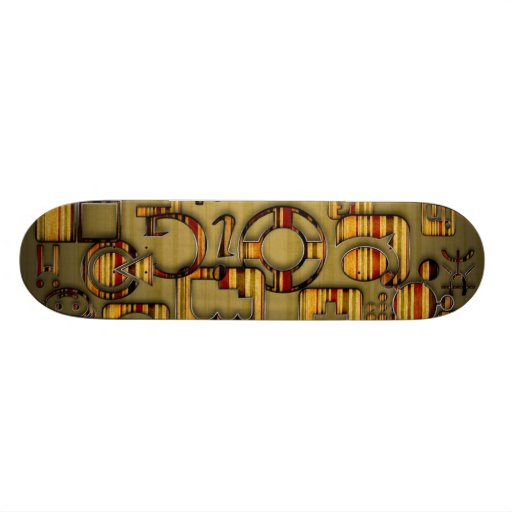 Grunge Striped Media Skateboards