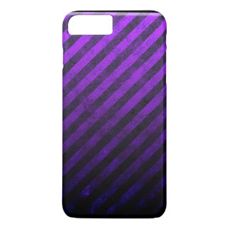 Grunge Striped Purple And Black Phone Case