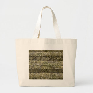 Grunge Stripes Print Large Tote Bag