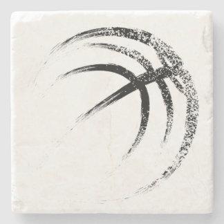 Grunge Style Basketball Design Stone Coaster