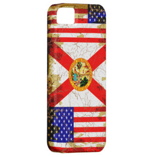 Grunge Style Florida and USA Flags iPhone 5 Cases
