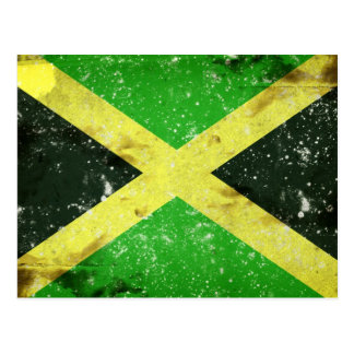 Grunge style Jamaican design Postcard
