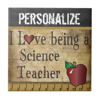 Grunge Style - Love being a Science Teacher Tile