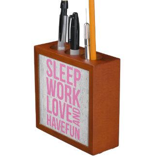 Grunge Style Motivational Quote Poster Desk Organizer