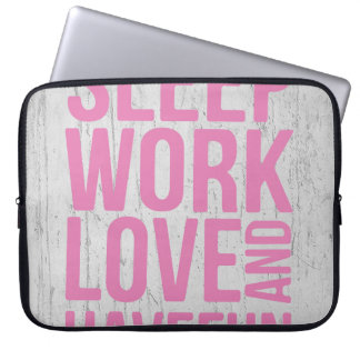 Grunge Style Motivational Quote Poster Laptop Sleeve