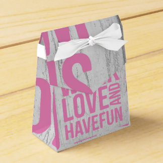 Grunge Style Motivational Quote Poster Wedding Favor Box