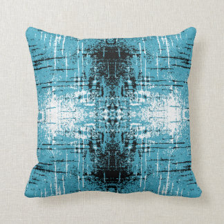 Grunge Style Teal Abstract. Throw Pillow