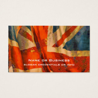 Grunge Style Union Jack British Flag Illustration Business Card