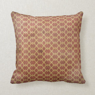 Grunge Style Vintage Pillow Distressed Rust /Gold