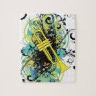 Grunge Swirl Trumpet Jigsaw Puzzle