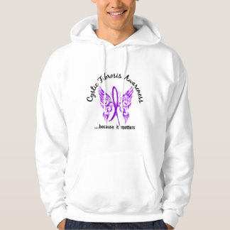 Grunge Tattoo Butterfly 6.1 Cystic Fibrosis Hooded Sweatshirt