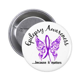Grunge Tattoo Butterfly 6.1 Epilepsy 2 Inch Round Button