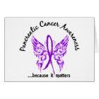 Grunge Tattoo Butterfly 6.1 Pancreatic Cancer Card