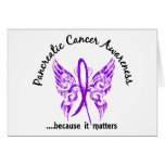 Grunge Tattoo Butterfly 6.1 Pancreatic Cancer Greeting Card