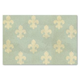 Grunge,teal,vintage,fleur de lis,pattern,victorian tissue paper