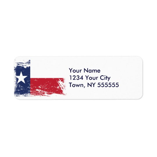 Grunge Texas Flag Return Address Label