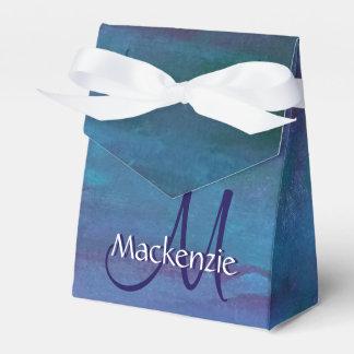 Grunge | Turquoise Teal Blue Violet Purple Favor Box