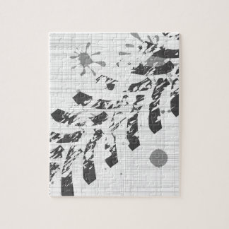 Grunge Tyre Marks Jigsaw Puzzle