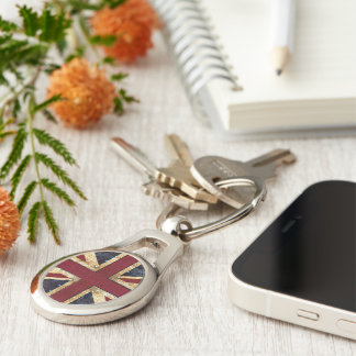 Grunge UK Union jack Keychain