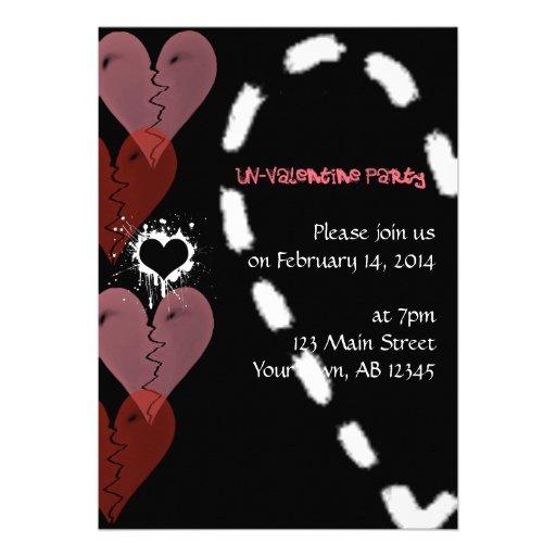 Grunge Un-Valentine Invitation
