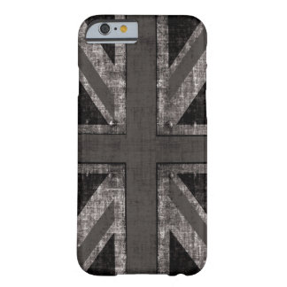 grunge union jack - black and white barely there iPhone 6 case