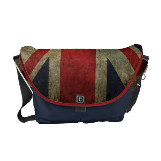 Grunge Union-Jack British Flag Messenger Bags