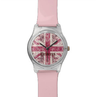 grunge union Jack British Flag Watch