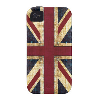 Grunge Union Jack - classic - vintage look Case-Mate iPhone 4 Cases