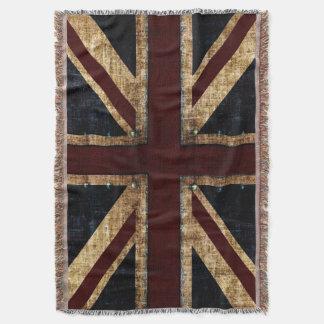 Grunge Union Jack Throw Blanket