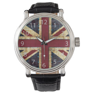Grunge Union Jack Watch