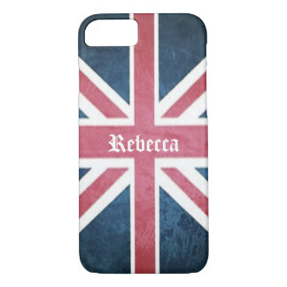 Grunge United kingdom british union jack flag iPhone 8/7 Case