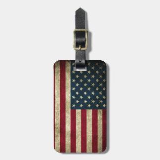 Grunge USA American Flag Patriotic fashion Bag Tags