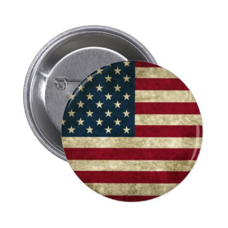 Grunge USA Flag 2 Inch Round Button