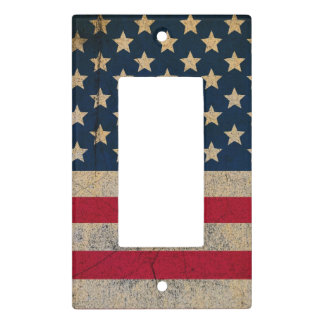Grunge USA Flag Light Switch Cover